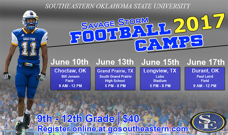 Football To Host Four Camps In June Southeastern Oklahoma State